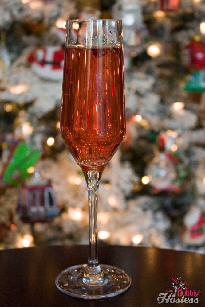 Pomegranate Champagne Cocktail | The Bubbly Hostess