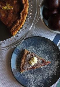 Brown Butter Plum Tart with Mascarpone Cheese 1 watermark resized