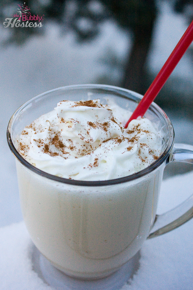 Frozen Blended Eggnog | The Bubbly Hostess
