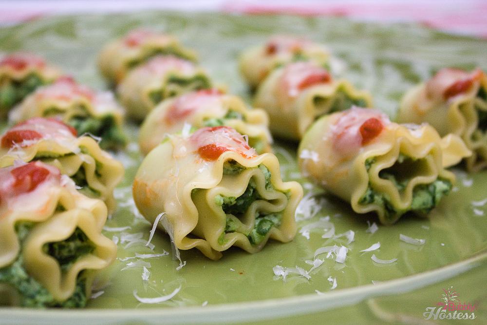 Mini Lasagna Roll Ups | The Bubbly Hostess