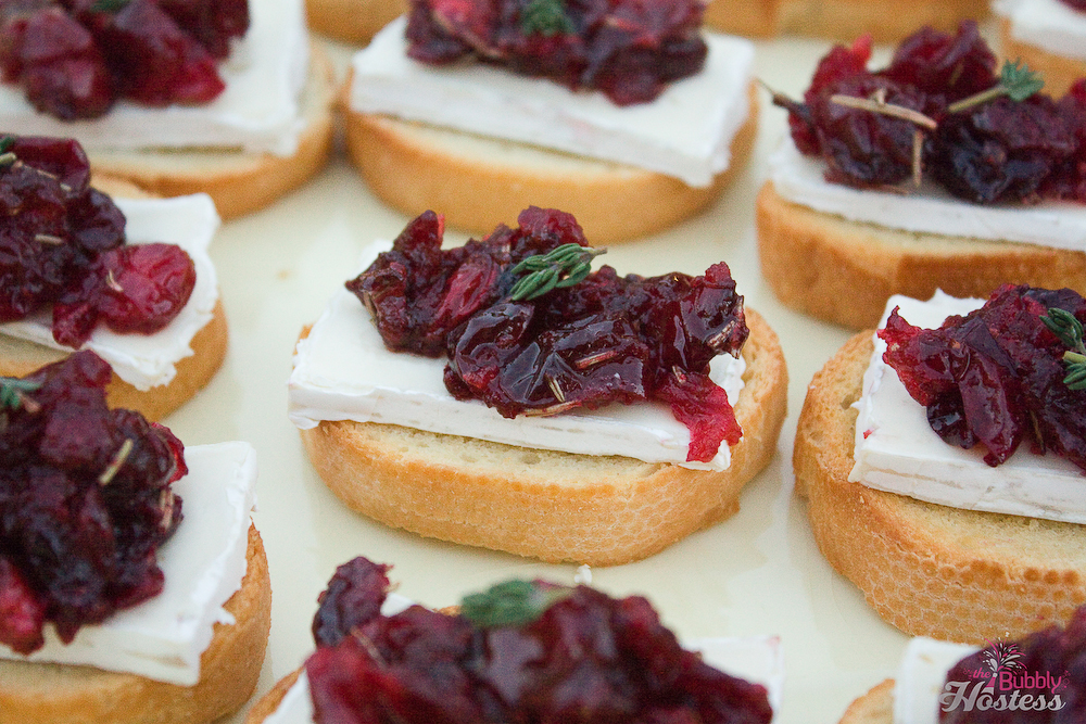 Roasted Balsamic Cranberry and Brie Crostini | The Bubbly Hostess