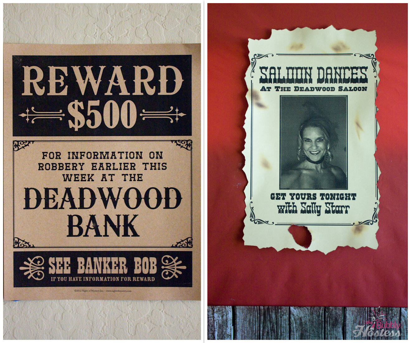 Murder At The Deadwood Saloon - A Murder Mystery Party Old West Décor | The Bubbly Hostess