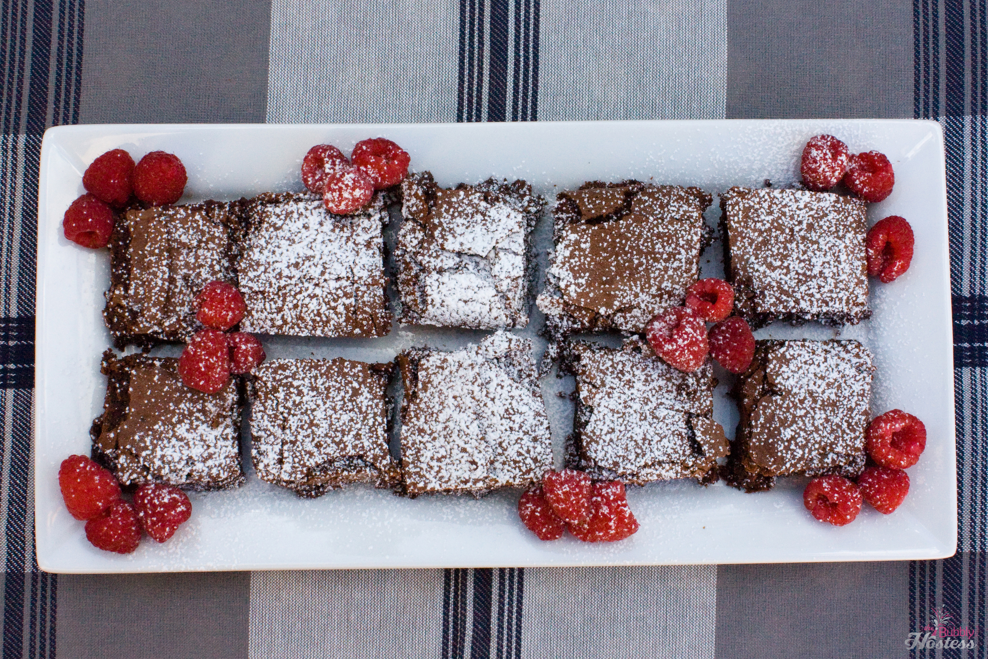 Triple Chocolate Raspberry Brownies | The Bubbly Hostess
