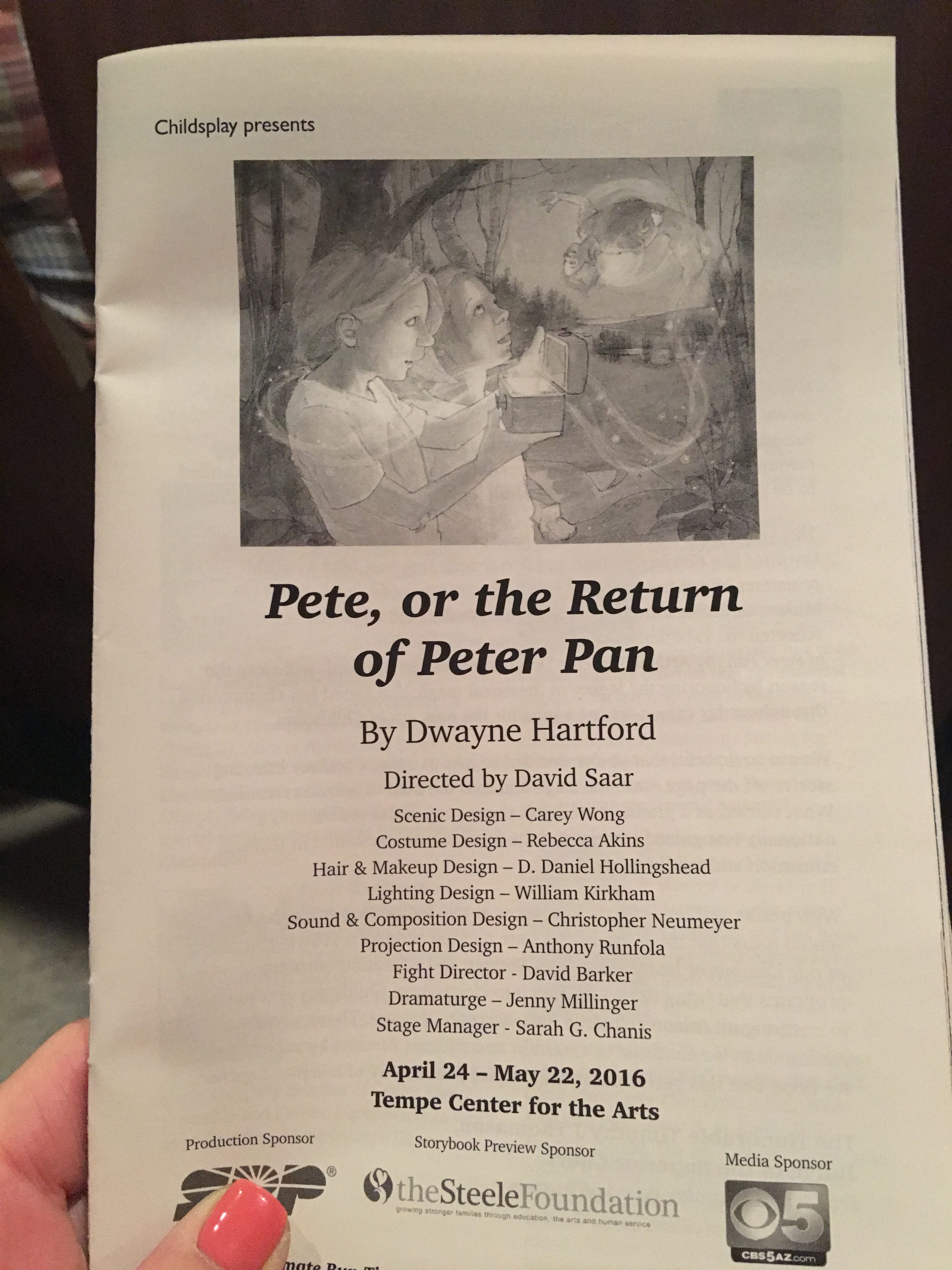 Pete, or the Return of Peter Pan by Childsplay | The Bubbly Hostess
