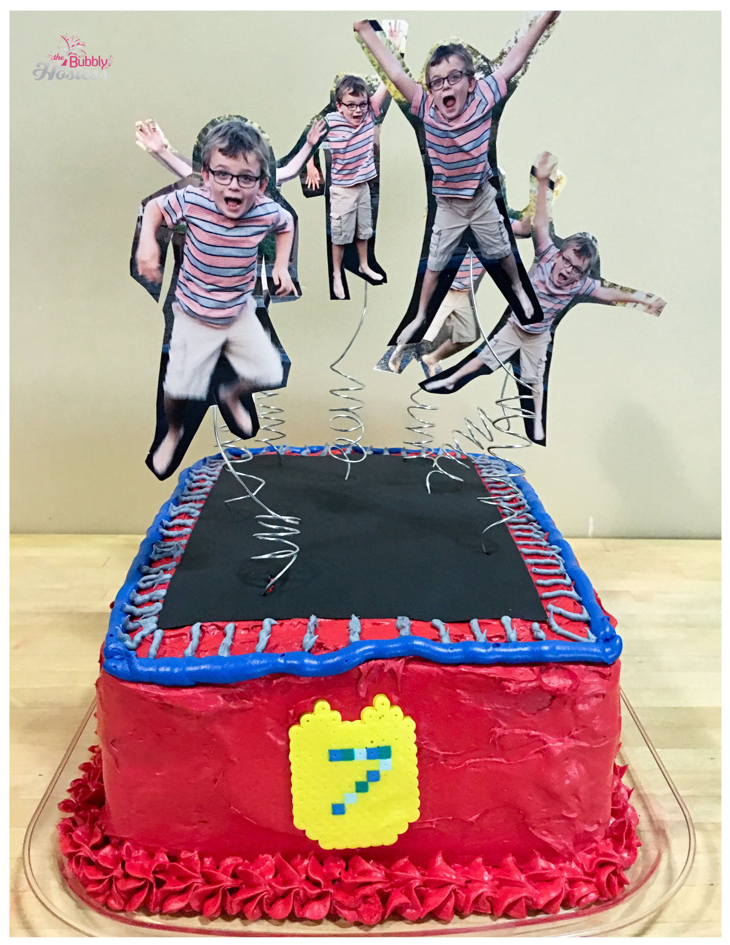Trampoline Birthday Cake | The Bubbly Hostess